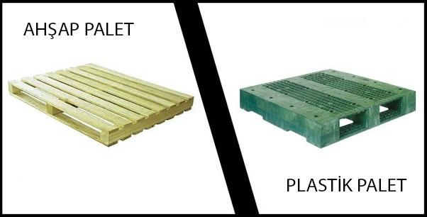 Ahşap Palet İle Plastik Palet