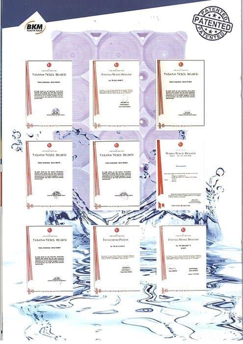 Damacana palet tasarım tescil belgesi